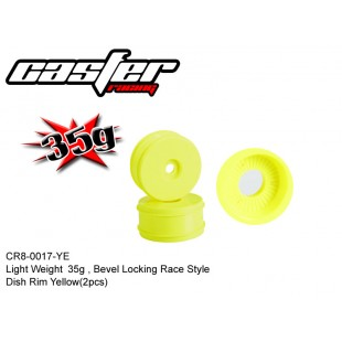 CR8-0017-YE  Light Weight 35g,Bevel Locking Race Style Dish Rim Yellow(2pcs)