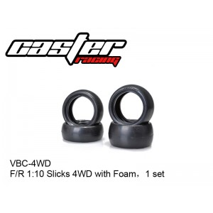 VBC-4WD  F/R 1:10 Slicks 4WD with Foam,1 set