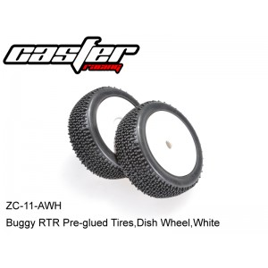 ZC-11-AWH  Buggy RTR Pre-glued Tires,Dish Wheel,White