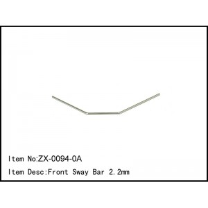 ZX-0094-0A  Front Sway Bar 2.2mm