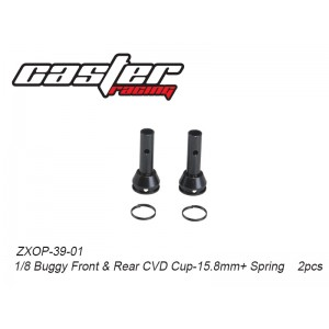 ZXOP-39-01 1/8 Buggy Front&Rear CVD Cup-15.8mm+ Spring    2pcs