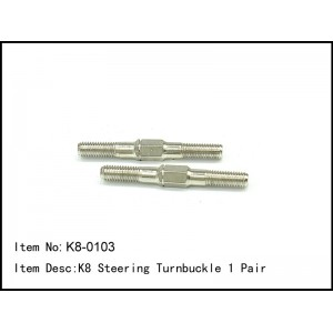 K8-0103  K8 Steering Turnbuckle 1 Pair
