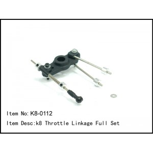 K8-0112  k8 Throttle Linkage Full Set