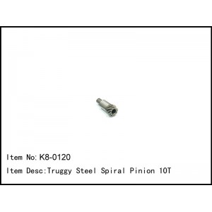 K8-0120  Truggy Steel Spiral Pinion 10T
