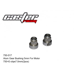 750-017 Alum Gear Bushing 5mm For Motor 750+ E-clips 7.0mm(2pcs)