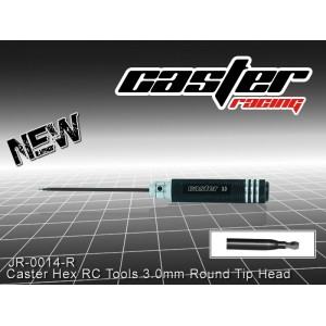 JR-0014-R  Caster Hex RC Tools 3.0mm Round Tip Head