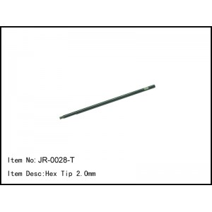 JR-0028-T Hex Tip 2.0mm