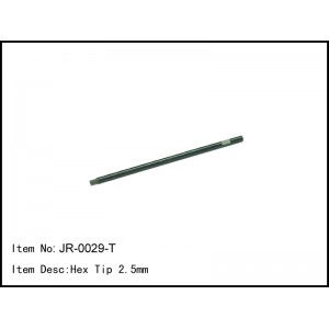 JR-0029-T  Hex Tip 2.5mm