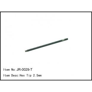 JR-0029-T  Hex Tip 2.5mm