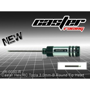 JR-0030-R  Caster Hex RC Tools 3.0mm -M Round Tip Head