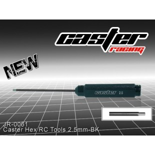 JR-0061  Caster Hex RC Tools 2.5mm-BK