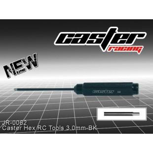 JR-0062  Caster Hex RC Tools 3.0mm-BK