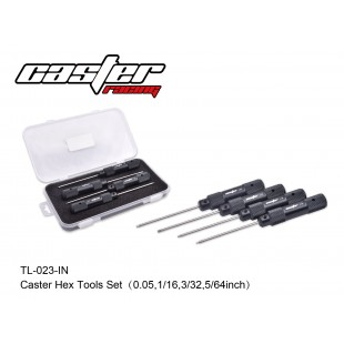 TL-023-IN  Caster Hex Tools Set(0.05,1/16,3/32,5/64inch)