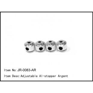 JR-0083-AR  Adjustable Al-stopper Argent