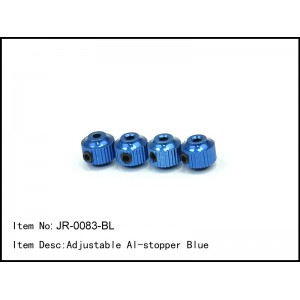 JR-0083-BL  Adjustable Al-stopper Blue