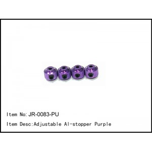 JR-0083-PU  Adjustable Al-stopper Purple
