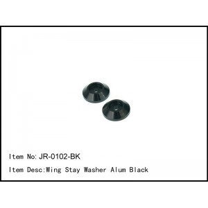 JR-0102-BK  Wing Stay Washer Alum Black