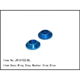 JR-0102-BL  Wing Stay Washer Alum Blue