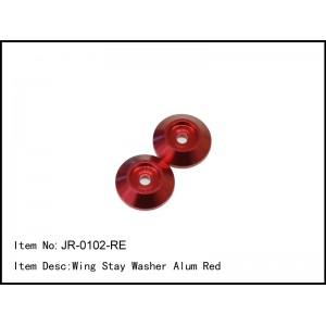 JR-0102-RE  Wing Stay Washer Alum Red