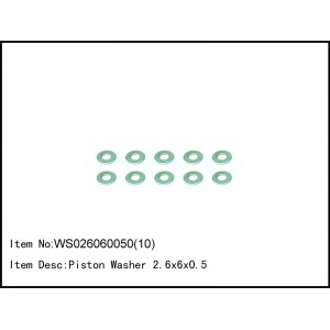 WS026060050(10)   Piston Washer 2.6x6x0.5