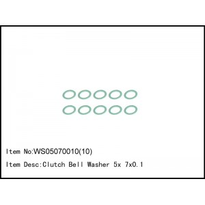 WS05070010(10)   Clutch Bell Washer 5x 7x0.1