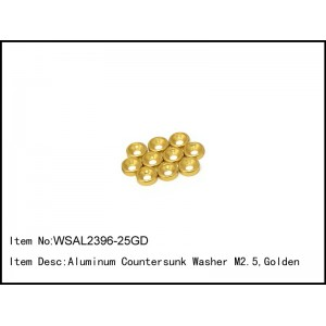 WSAL2396-25GD   Aluminum Countersunk Washer M2.5,Golden,10 pcs