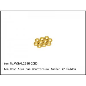 WSAL2396-2GD   Aluminum Countersunk Washer M2.0,Golden,10 pcs