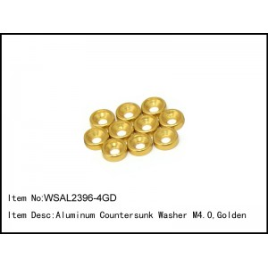 WSAL2396-4GD  Aluminum Countersunk Washer M4.0,Golden,10 pcs