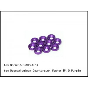 WSAL2396-4PU   Aluminum Countersunk Washer M4.0,Purple,10 pcs
