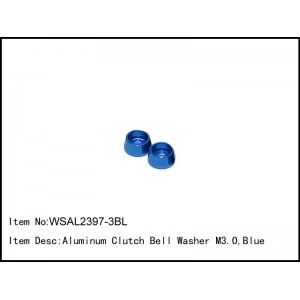 WSAL2397-3BL  Aluminum Clutch Bell Washer M3.0,Blue,2 pcs