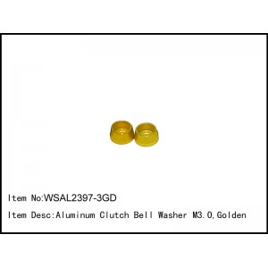 WSAL2397-3GD  Aluminum Clutch Bell Washer M3.0,Golden,2 pcs