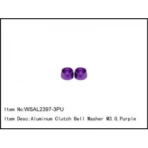WSAL2397-3PU  Aluminum Clutch Bell Washer M3.0,Purple,2 pcs