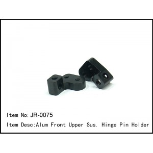 JR-0075  Alum Front Upper Sus. Hinge Pin Holder L/R
