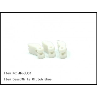 JR-0081  White Clutch Shoe