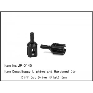 JR-0145  Buggy Lightweight Hardened Ctr Diff Out Drive (Flat) 5mm