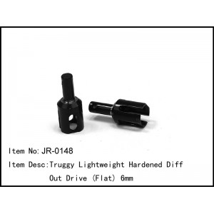 JR-0148  Truggy Lightweight Hardened Diff Out Drive 6mm