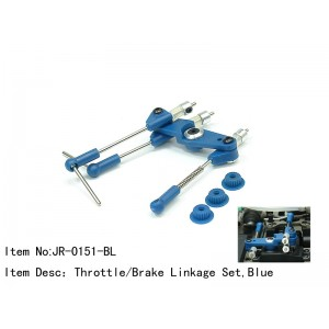 JR-0151-BL  Throttle/Brake Linkage Set,Blue