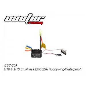 ESC-25A 1/16&1/18 Brushless ESC 25A Hobbywing-Waterproof